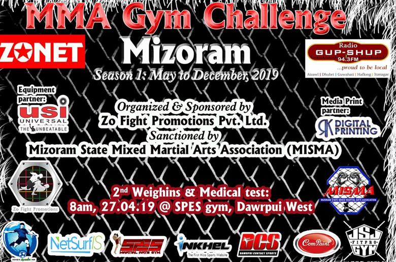 MMA (MIXED MARTIAL ARTS) event nei turin MISMA leh Zonet ten